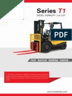 T1 Series Diesel Forklift 2.0-2.5T