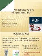 Motoare termice VS Motoare electrice