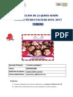 Productos de La 5a Sesión - Febrero - 4b Cesar Cortes Castan