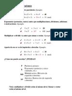 El Orden de Prioridad de Las Operaciones Matemáticas