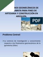 Parametros Geomecánicos de La Ignimbrita