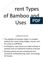 Different Types of Bamboo and Uses