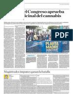 El Pleno Del Congreso Aprueba El Uso Medicinal Del Cannabis