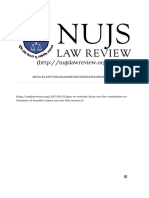 Garr and Dtaa Nujs Law Review