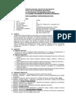 Silabo Algoritmos y Estructuras de Datos 17 2 Industrial
