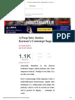 A Peep Into Justice Karnan's Contempt Saga - I _ Live Law