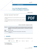 [Open Mathematics] Numerical Solution of the Maxwell Equations in Time-Varying Media Using Magnus Expansion