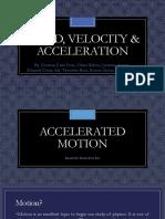 Speed, Velocity & Acceleration (Physics Report)