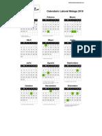 Calendario Laboral Malaga