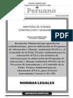 Aprueban Consideraciones Para La Elaboracion Del-PAMA y FTAA