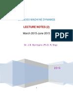 Machine Dynamics Kimathi Notes