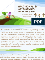 Traditional and Alternative Health Care