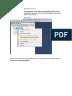 Importar Aplicación de Capa de Datos en Server
