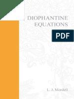 L.J. Mordell Diophantine Equations