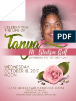 Celebration of Life Program - TBB