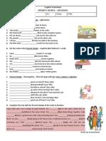 Present Simple Revision Doc