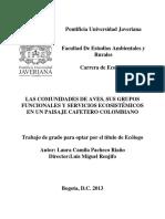 AVES SUS GRUPOS FUNCIONALES Y SERVICIOS ECOSISTEMICOS en Colombia-Pacheco & Laura-2013.pdf
