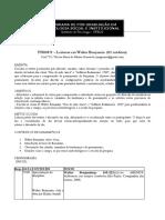PSI00571 - Leituras Em Walter Benjamin