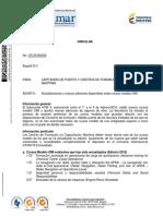 Circular CR-20160059 Actualizaciones y Nuevas Ediciones Disponibles Sobre Cursos Modelo OMI