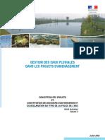 Gestion des eaux pluviales dans les projets d'amenagement