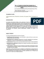 Teoría de Restricciones en La Planificación y La Programación de Proyectos en El Perú