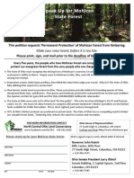 2017 Mohican Forest Petition
