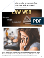 Lawweb.in-whether Advocate Can Be Prosecuted on Basis of His Phone Chat With Accused