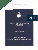 Edmund Husserl - Kesin Bilim Olarak Felsefe