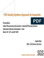 FDA Quality Systems Approach to Inspections 0307