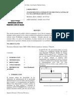 Analisis de Frecuencia Natural en un perfil w Empotrada