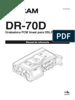 Manual grabadora DR70D Tascam