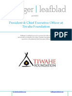 Executive Profile - President and CEO - Tiwahe Foundation