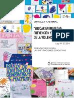 Jornada Nac Educar en Igualdad 2017