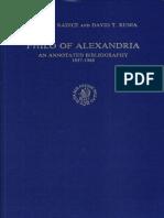 [VigChr Supp 008] Roberto_Radice,_David_T._Runia - Philo_of_Alexandria_An annotated bibliography 1937-1986.pdf