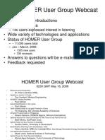 First HOMER Webcast Presentation