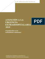 Atención a La Urgencia Extrahospitalaria en El SNS (2010)