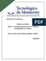 MII-U3- Actividad Integradora Fase 1 Culturas Prehispánicas y La Colonia.