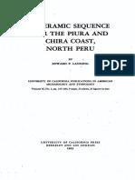 A Ceramic Sequence for the piura and chira coast, North Perú