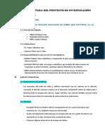 Estructura Del Proyecto de Investigacion-operaciones Unitarias