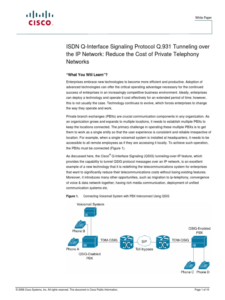 Qsig Over Ip | Session Initiation Protocol | Internet