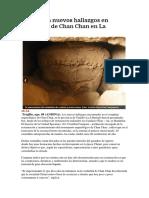 Idolos y otros hallazgos en Chan Chan