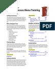 Menu Training Booklet