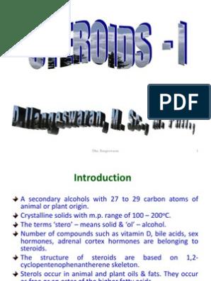 Steroids - I   Methyl Group   Ketone