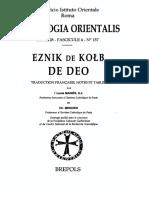 Patrologia Orientalis Tome XXVIII - Fascicule 4 - No. 137 - Mariès. Eznik de Kolb - De Deo