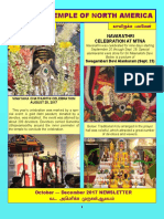 Murugan Temple October November December 2017 Newsletter