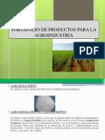 Uso de Productos en La Agroindustria.