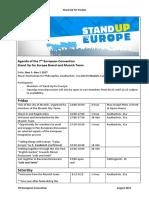 Agenda of Convention Nov 3- Nov 5 21 08 17