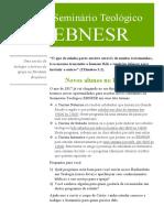 Informativo 2017 EBNESR Out2017