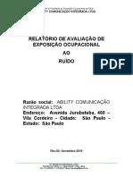 Relatório de Ruido - Ability Atual