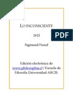 1915 Lo Inconsciente Sigmund Freud